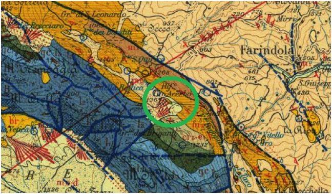 Farindola carta geologica 1:100000