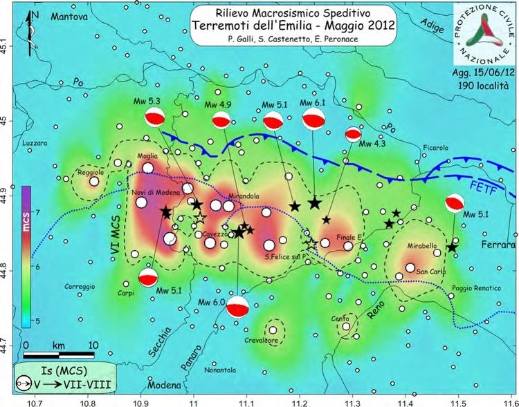 Terremoto Emilia rilievo macrosismico