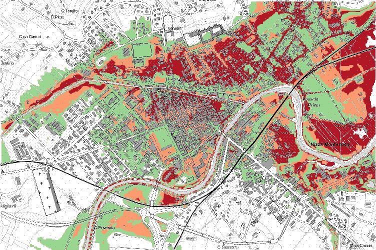 Rischio esondazione, pianificazione e definizione dell'idoneità all'utilizzo urbanistico