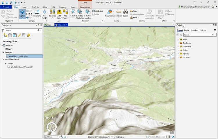 ArcGIS Pro elaborazione 3D