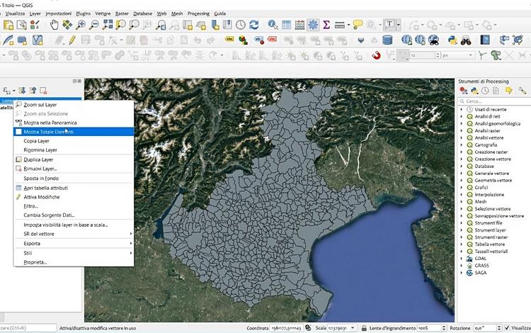 La rappresentazione delle Informazioni territoriali attraverso l'uso dei GIS (Geographic Information System)