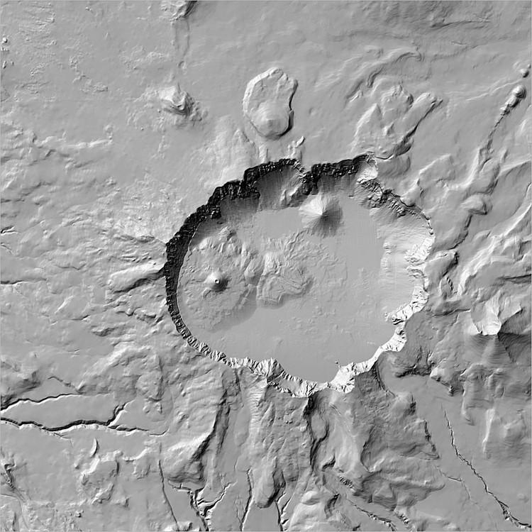 Elaborazione mediante geoprocesso Hillshade di un modello digitale del terreno