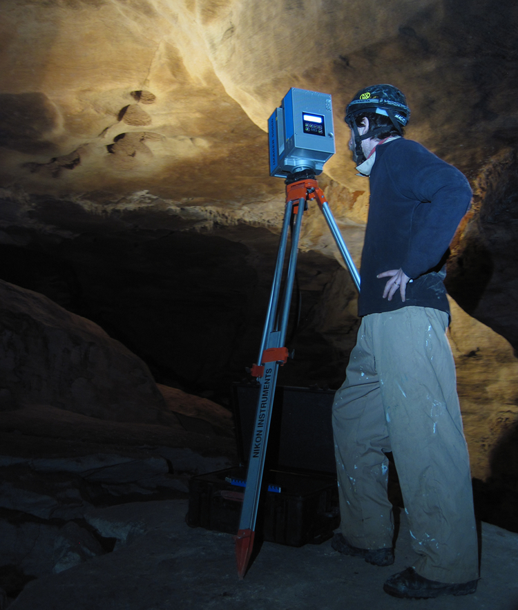 Rilievo Laser Scanne in grotta