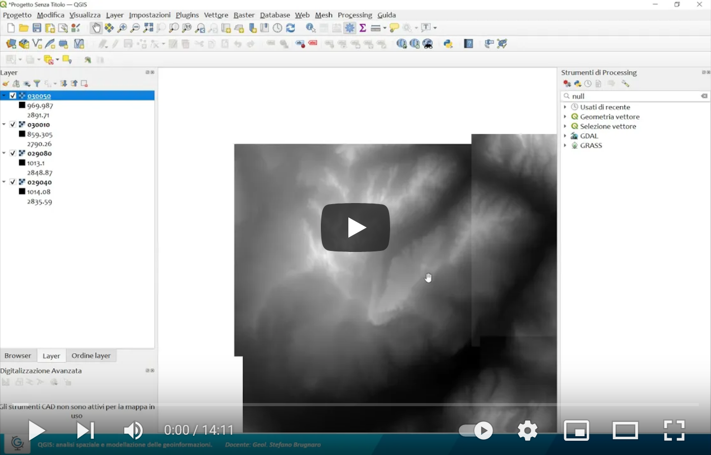 QGIS: analisi spaziale e modellazione delle geoinformazioni (Lez.1)