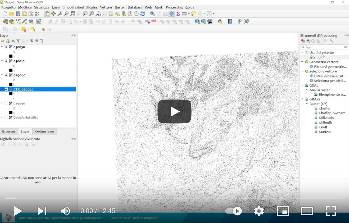 QGIS: analisi spaziale e modellazione delle geoinformazioni (Lez.2)