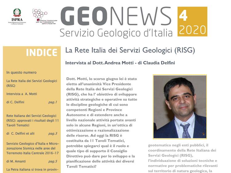 Geonews, newsletter n.4/2021 del Servizio Geologico d'Italia