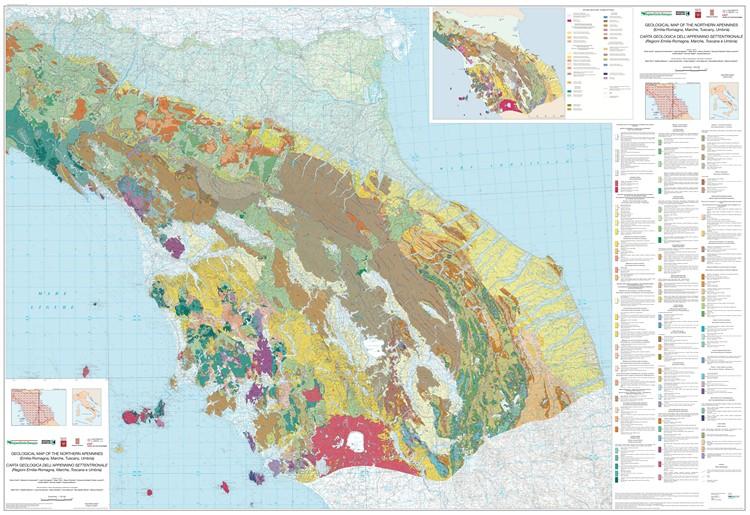 Carta Geologica dell'Appennino Settentrionale (scala 1:250.000) e banca dati GIS