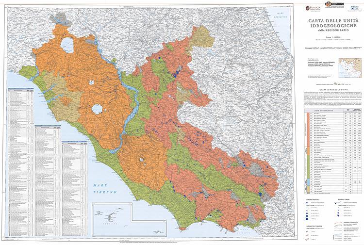 Carta idrogeologica della Regione Lazio