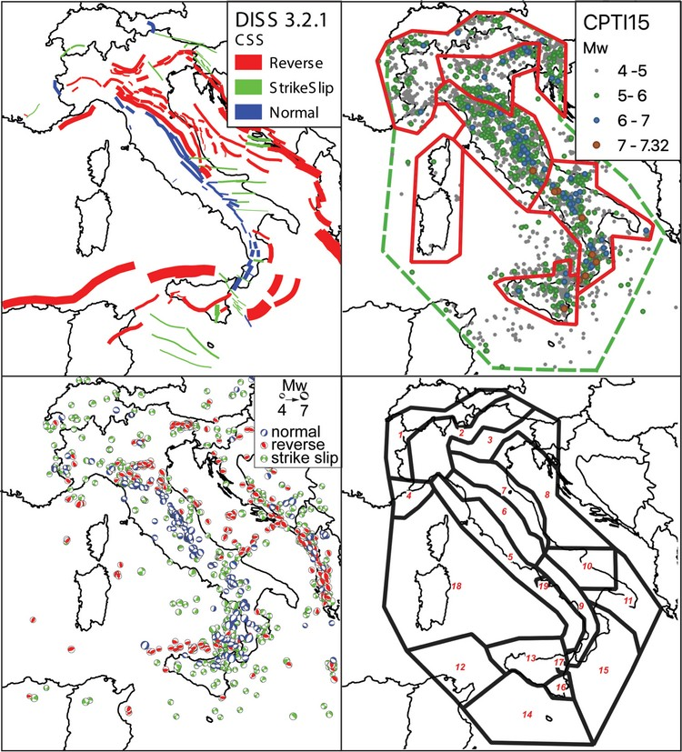 INGV - Annals of Geophysics | Earthquake Rupture Forecasts for the MPS19 Seismic Hazard Model of Italy