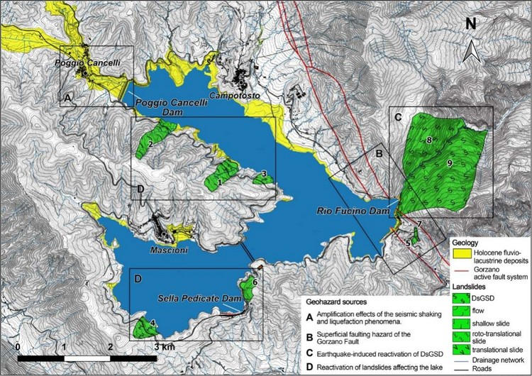 Engineering-Geological Features Supporting a Seismic-Driven Multi-Hazard Scenario in the Lake Campotosto Area (L'Aquila, Italy)