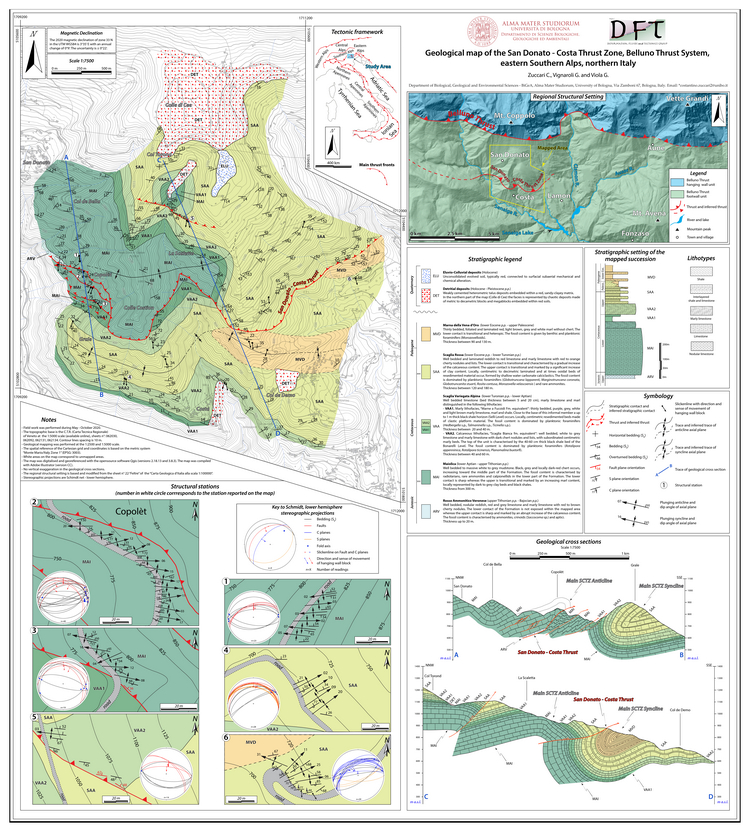 Open access | Geology of the San Donato - Costa Costa Thrust zone, Belluno Thrust system, eastern Southern Alps (northern Italy)