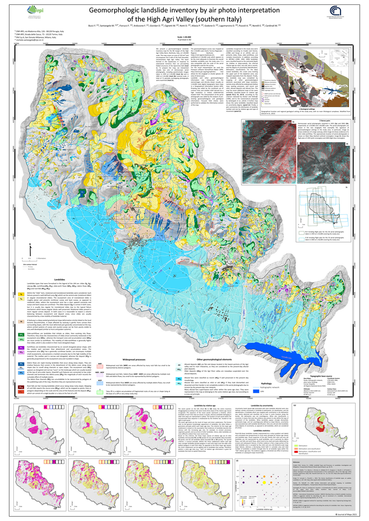 Open access | Geomorphologic landslide inventory by air photo interpretation of the High Agri Valley (Southern Italy)