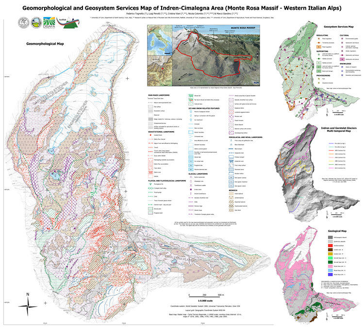 Geomorphology and geosystem services of the Indren-Cimalegna area (Monte Rosa massif - Western Italian Alps)