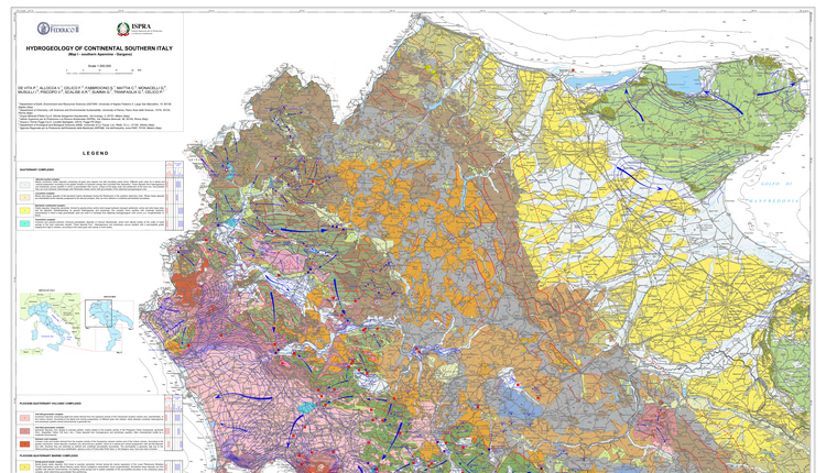 Journal of Maps | Hydrogeology of continental southern Italy (2018)