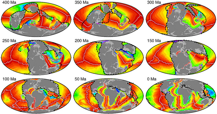 Research article | Reconstructing seafloor age distributions in lost ocean basins