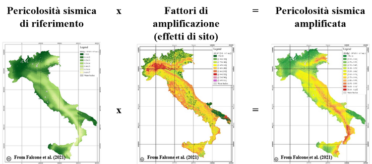 Seismic amplification maps of Italy based on site-specific microzonation dataset and one-dimensional numerical approach