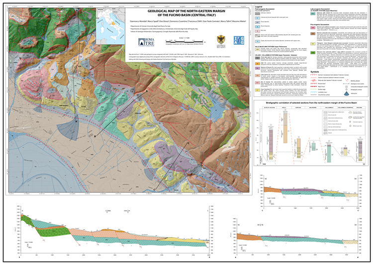 The tectono-stratigraphic evolution of the Fucino Basin (central Apennines, Italy): new insights from the geological mapping of its north-eastern margin
