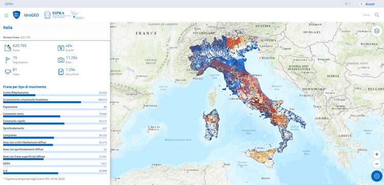 IdroGEO: A Collaborative Web Mapping Application Based on REST API Services and Open Data on Landslides and Floods in Italy