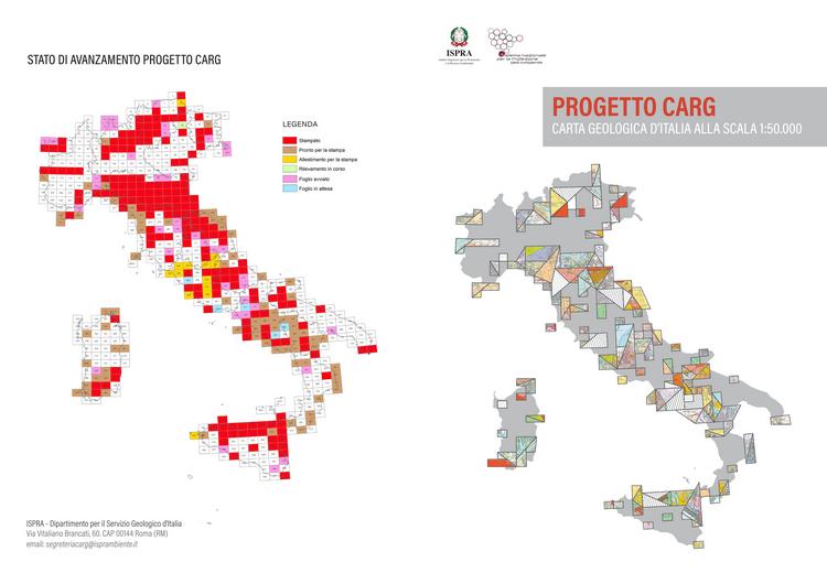 Online la scheda di sintesi del Progetto CARG, Cartografia Geologica alla scala 1:50.000
