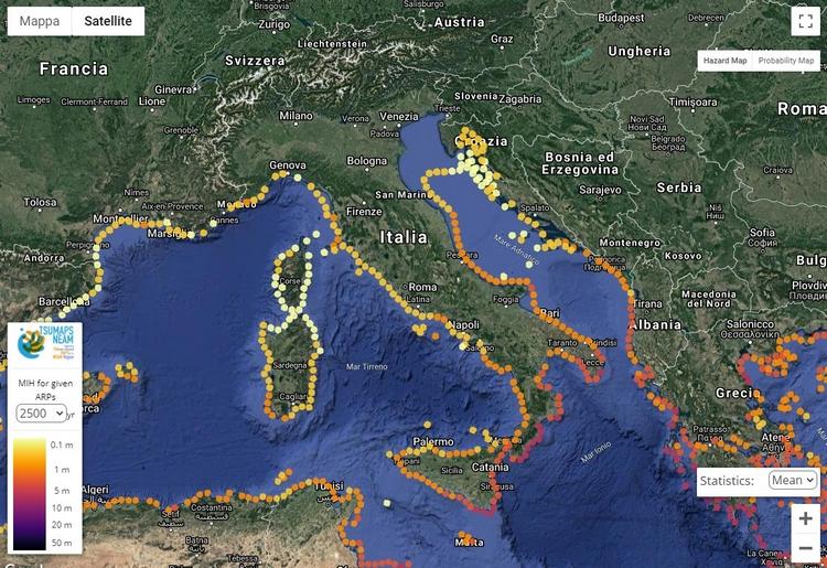NEAM Tsunami Hazard Model, online la mappa interattiva