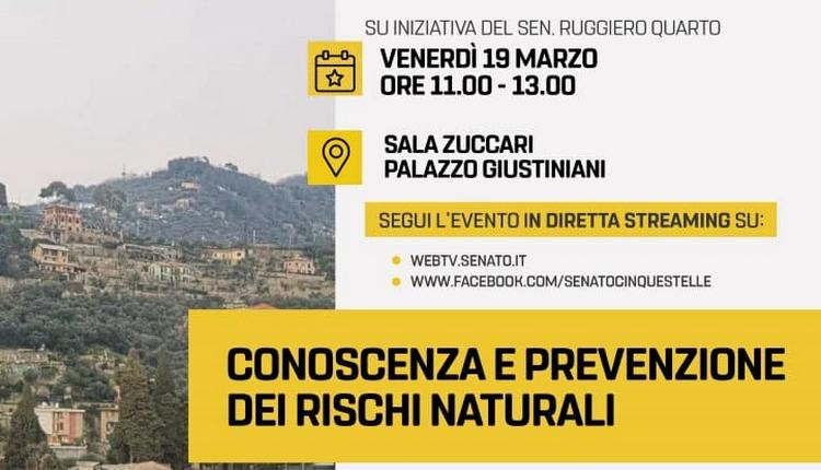 Diretta streaming - Conoscenza e prevenzione dei rischi naturali - venerdì19 marzo 2021