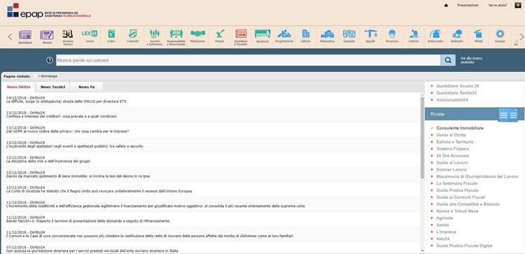 """Piattaforma Epap - Sole24Ore, utilizzo gratuito per gli iscritti della """"BancaDati24"""""""