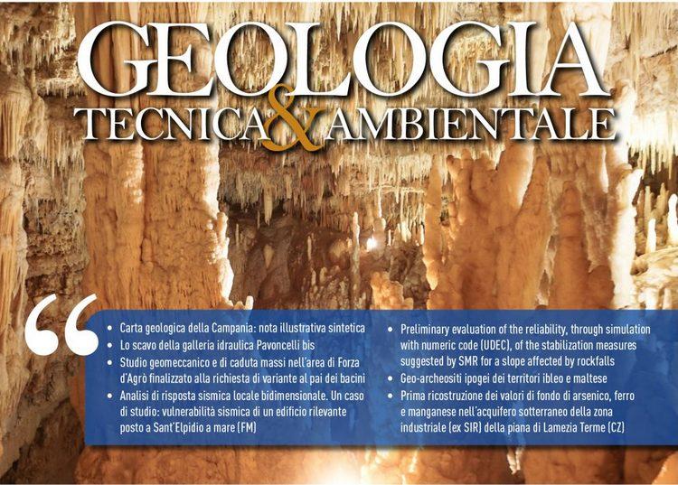 GEOLOGIA TECNICA & AMBIENTALE - Quadrimestrale dell'Ordine Nazionale dei Geologi – n. 2/2020