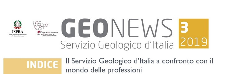 Geonews, terzo numero della newsletter del Servizio Geologico d'Italia