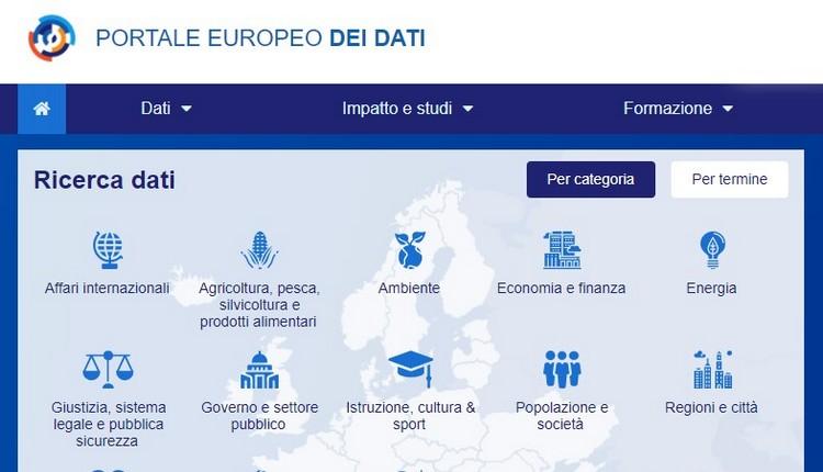 Il Portale Europeo dei Dati
