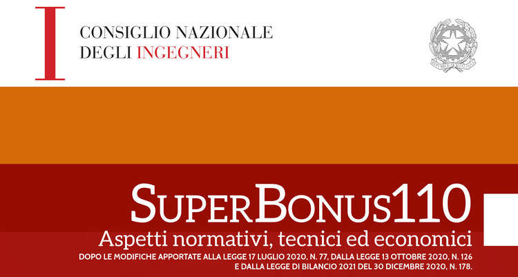 Pubblicazione CNI - SuperBonus110 - Aspetti normativi, tecnici ed economici