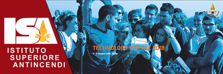 Technology for All 2018, il forum dedicato all'innovazione tecnologica | 3-5 Ottobre 2018, Roma