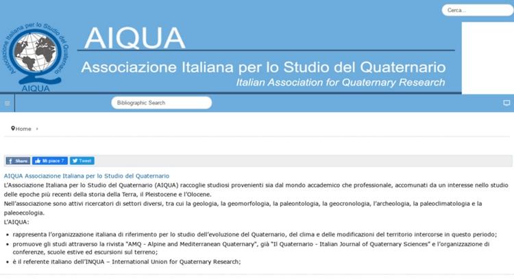 AIQUA - Associazione Italiana per lo Studio del Quaternario; rivista AMQ online