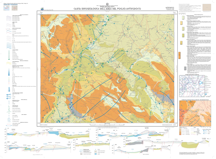 Carta Geologica d'Italia alla scala 1:50.000: cartografia geotematica del foglio 348 Antrodoco