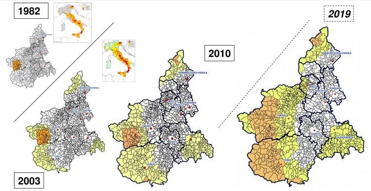 Regione Piemonte, nuova classificazione sismica
