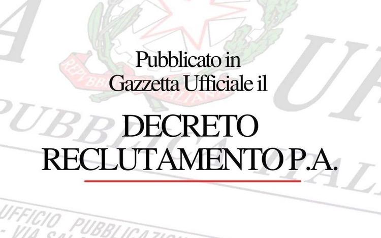 In Gazzetta Ufficiale il decreto reclutamento PA