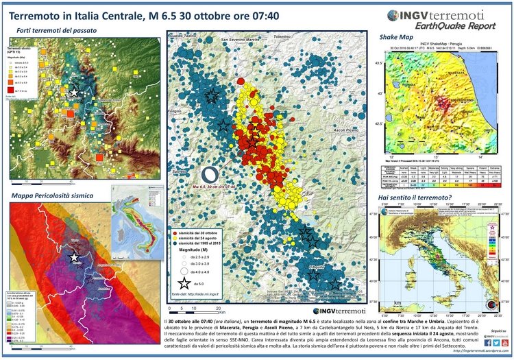 Terremoto  in Italia centrale, INGV pubblica l'Earthquake Report