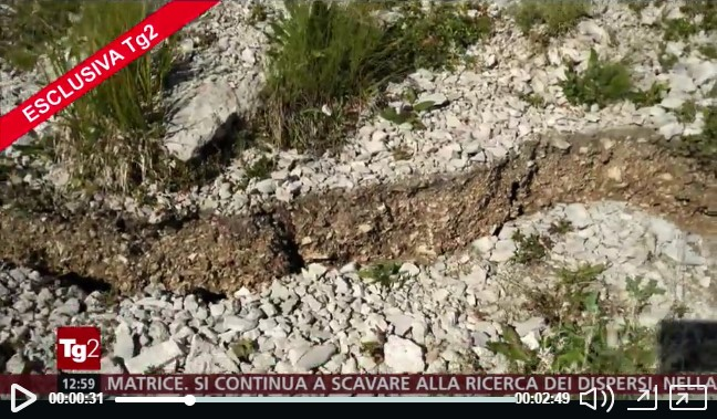 Video - Terremoto, la faglia di Amatrice