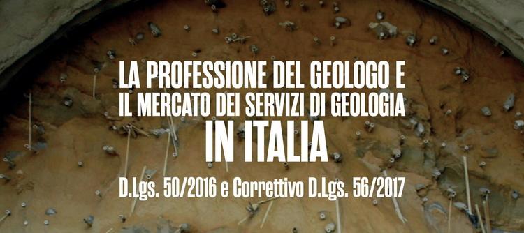 CNG - La professione del geologo ed il mercato dei servizi di geologia in Italia