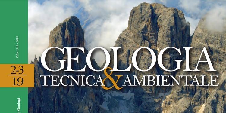 GEOLOGIA TECNICA & AMBIENTALE - Quadrimestrale dell'Ordine Nazionale dei Geologi – n. 2-3/2019