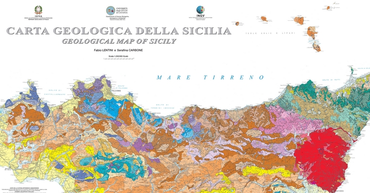 Presentazione della Carta geologica della Sicilia, scala 1:250.000