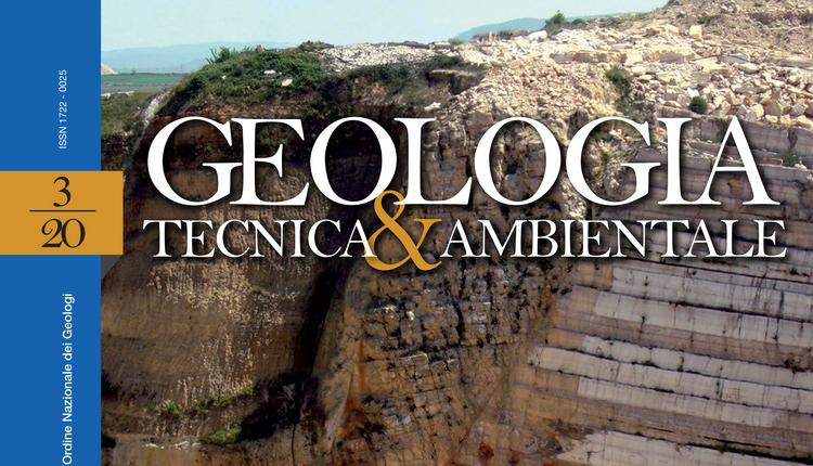 GEOLOGIA TECNICA & AMBIENTALE - n. 3/2020