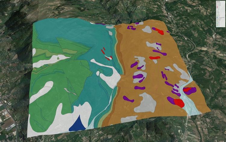 Regione Umbria, cartografia geologica regionale