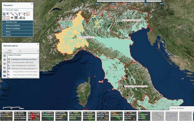 Geoportale Nazionale: banche dati geografiche per la Valutazione Preliminare del Rischio di Alluvioni