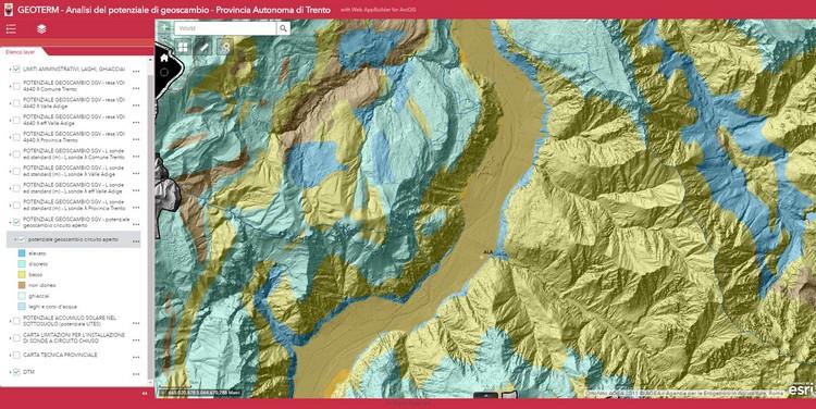 Online la mappa del potenziale geotermico del Trentino Alto Adige