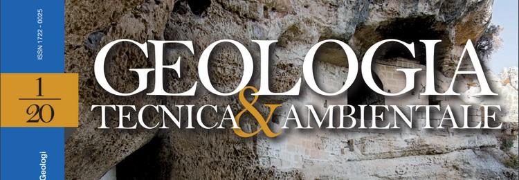 GEOLOGIA TECNICA & AMBIENTALE - Quadrimestrale dell'Ordine Nazionale dei Geologi – n. 1/2020