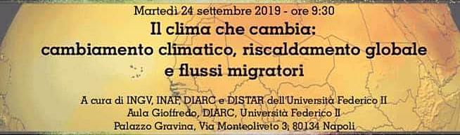 Notte Europea del Ricercatori - Il clima che cambia, Napoli martedì 24 settembre