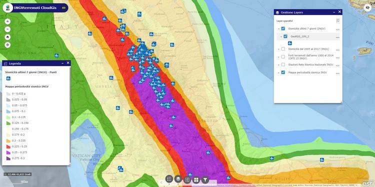 INGVterremoti CloudGis: sismicità in tempo reale e le banche dati sismologiche INGV