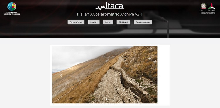 ITACA (ITalian ACcelerometric Archive), online la versione 3.1