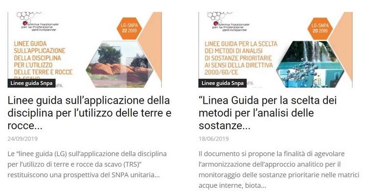 Linee Guida e manuali tecnici SNPA, la collezione completa
