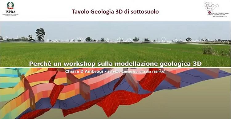 """Disponibile lo streaming del Workshop """"Modellazione geologica 3D"""", Servizio Geologico d'Italia - ISPRA"""